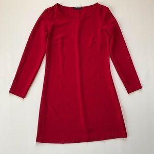 American Apparel • Red Long Sleeve Mini Dress